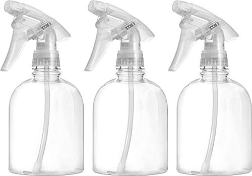 Bar5F Empty Clear Spray Bottle 16 oz. Adjustable Head Sprayer from Fine to Stream (Pack of 3)