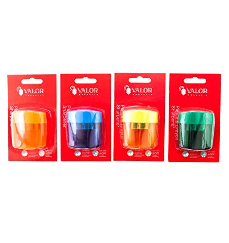 Valor Products 2 Holes Pencil & Crayon Sharpener, Pack of 576