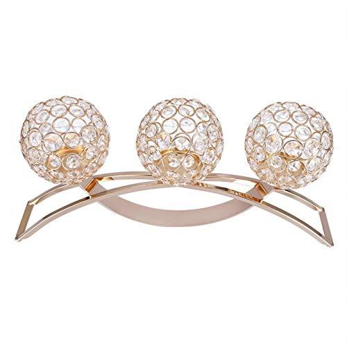 Candelabro Clásico Candelero Arco de hierro para café para cena a la luz de las velas(Golden)