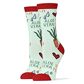 Women's Novelty Crew Socks, Oooh Yeah Exclusive Funny Socks for Bob Ross, Fun Crazy Cool Socks 4 Combed Cotton Women's sock size 9-11. women's Shoe Size 5 to 10 ,One size fits most women. BOLD & BRIGHT - Welcome to the year of the pattern. Whether you prefer to wear them on shirts, pants, or blazers, bold patterns are taking the world by storm. Socks aren't immune from the pattern fever, and for good reason- colorful socks add a unique punch to any outfit, from dressy suits to casual jeans. QUALITY CONSTRUCTION - Oooh Yeah Socks! are constructed to look good and built to last. The high quality construction gives these socks extra durability and flexibility during wear. For you, this means a pair of socks great for all day wear, no matter what you're up to. Standing on your feet working, formal events, even lounging around the house, Oooh Yeah Socks! are great for any occasion.