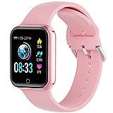 Smartwatch, KUNGIX orologio fitness Uomo Donna, Smart Watch Pressione Sanguigna & Cardiofrequenzimetro da Polso Monitor Impermeabile IP68 Sportivo Calorie Bluetooth Fitness watch per Android IOS
