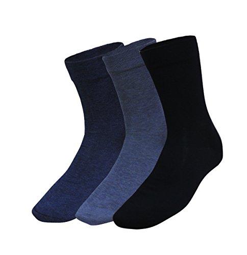Premium Sox 3 Paar Herrensocken mit extra weitem Schaft 43-46 marine - dkl.jeans - hell jeans
