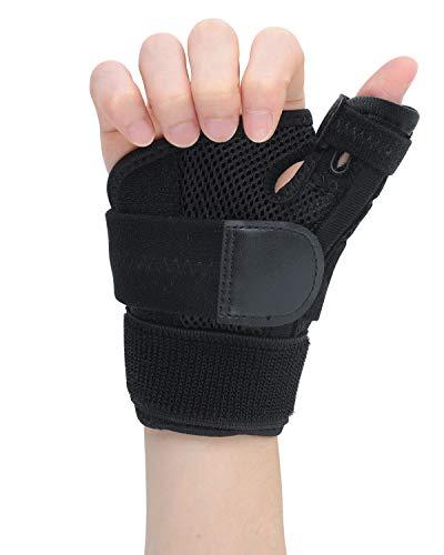 ZOUYUE Daumen Bandagen, verstellbare Daumenbandage Daumengelenk Bandagen Daumenschiene Daumenstütze, Schmerzlinderung und Stabilität unterstützen, Links Rechts