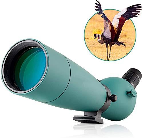 Bierglaks Monocular para avistamiento de Aves, Tiro al Blanco, Tiro con Arco, Actividades al Aire Libre, con Adaptador de fotografía (Visor Impermeable con Zoom de 2,20-60x80 - -60x80)
