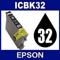 エプソン ICBK32 ブラック 【互換インクカートリッジ】【ICチップ有】EPSON IC32-BK【インク】