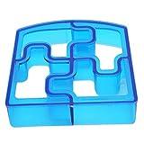 Forma weryffe Puzzle Sandwich Cortador Crust Cutters Pan (Formas verduras Frutas Cutter Hornear Herramienta Cocina Accesorios (Azul)