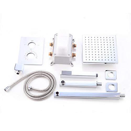 Kit de ducha para empotrar sistema de ducha Termostato Cabezal de ducha