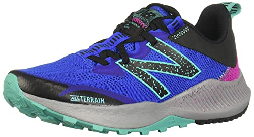 New Balance Women's DynaSoft Nitrel V4 Trail Running Shoe, Light Blue/Guava, 6.5