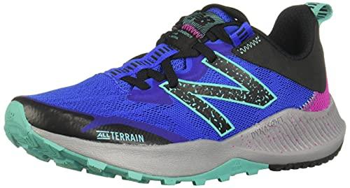 New Balance Women's DynaSoft Nitrel V4 Trail Running Shoe, Light Blue/Guava, 8.5