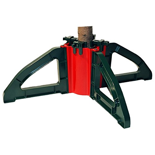 Omega Christmas Tree Stand- No Screws |Unbreakable Nylon Clamps |Holds up to a 10' tree | Holds 1...
