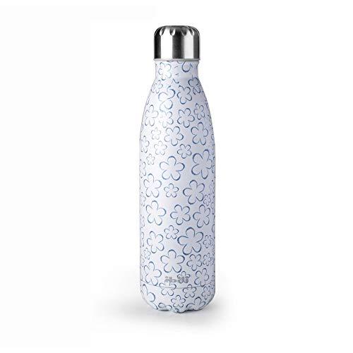 Botella termo doble pared Spring Blue Ibili 0,5 L