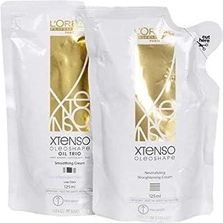 L'Oreal Paris Xtenso Oil Trio Extra Resistant Hair Straightening Cream(Ex125ml+125ml-New)