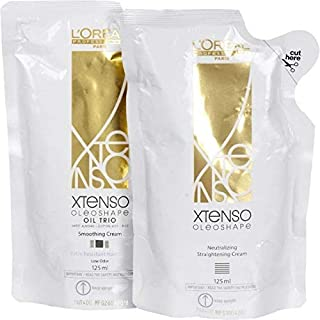 L'Oreal Xtenso Oil Trio Extra Resistant Hair Straightening Cream(Ex125ml+125ml-New)