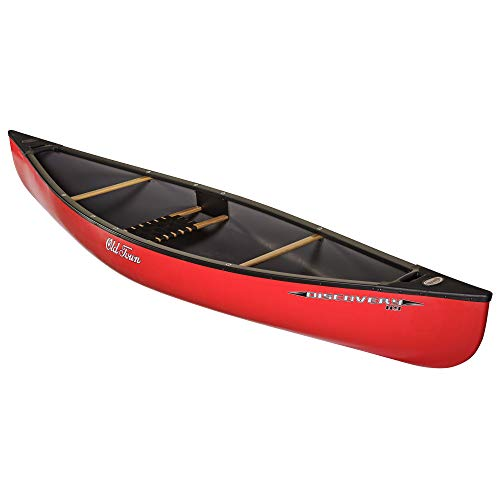 Old Town Canoes & Kayaks Discovery 119 Solo Canoe, Red, 11 Feet 9 Inches