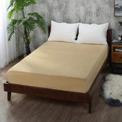 Hoeslaken, eenkleurig, met elastische band, voor tweepersoonsbed, 160 cm x 200 cm, 100% katoen