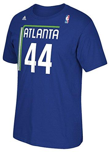 Atlanta Hawks Pete Maravich Throwback Adidas Pistol T Shirt (Medium)