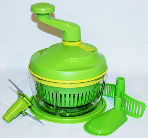 Tupperware Quick Chef Pro System with Spinner Basket Insert Green