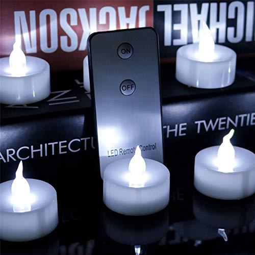 12 LED Kerzen, GTQC LED Flammenlose Tealights, Flackern Teelichter, elektrische Kerze Lichter Batterie Dekoration für Weihnachten, Weihnachtsbaum, Ostern, Hochzeit, Party 1.4CM*1.4CM