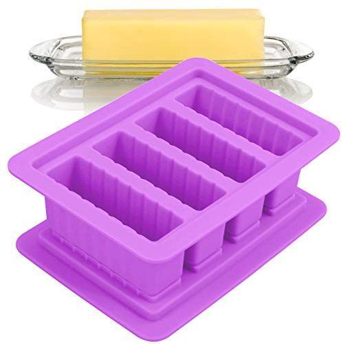 Find Bargain Butter Silicone Tray Mold with Lid