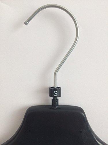 Segnataglie NERE cilindriche per grucce/appendini (confezione 1000 pezzi) - taglia S