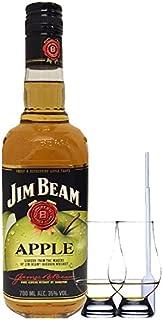 Jim Beam APPLE Whiskey 0,7 Liter  2 Glencairn Gläser und Einwegpipette