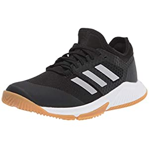 adidas womens Court Team Bounce Cross Trainer, Core Black/Silver Met Ftwr White, 8.5 US