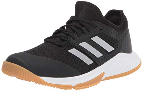 adidas Women's Court Team Bounce Cross Trainer, core Black/Silver met./FTWR White, 10.5 M US