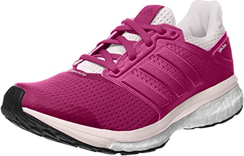 adidas Supernova Glide 8 W, Zapatillas de Running Mujer, Rosa/Blanco (Eqtros/Eqtros/Ftwbla), 36