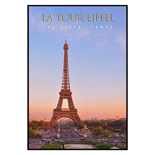 Golden State Art, 13x19 Aluminum Black Photo Frame with Plexi-Glass, Metal Wall Poster Frame Collection (13x19)