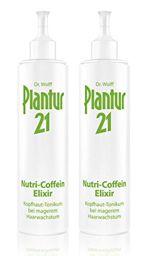 2er Nutri Coffein Elixier Plantur 21 Kopfhaut Tonikum bei magerem Haarwachstum 200 ml