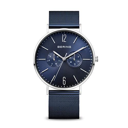 BERING Herren Analog Quarz Classic Collection Armbanduhr mit Edelstahl Armband und Saphirglas 14240-303