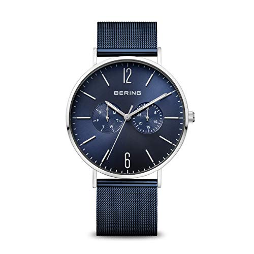 BERING Herren Analog Quarz Uhr mit Edelstahl Armband 14240-303