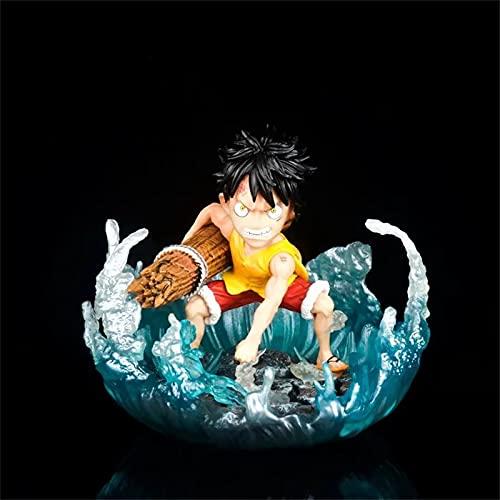 LVLIANG One Piece Estatuas De Anime Juvenil Monkey D. Luffy Entrenamiento 8.5.cm Alto Anime Figurine Modelo De Animación De Escritorio Mejor Regalo para El Abanico De Anime 3.3 in