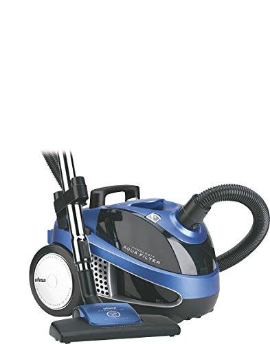 Ufesa AP8110 - Aspirador Con Filtro Agua (220-240 V, 50 Hz, 10 A, 1600 W, 1600 W, 315 x 295 x 425 mm, 8200 g), color negro y azul