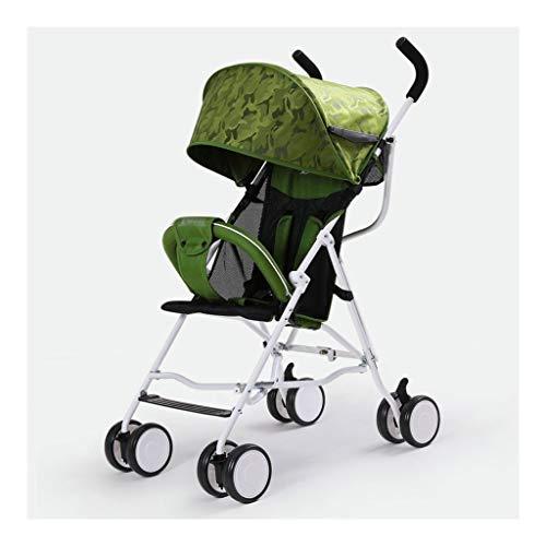 Carritos y sillas de Paseo El Carro de bebé Cochecito Ligero portátiles Que viajan Cochecito de niño de los niños con Errores Puede Estar en el Plano de Plegado del Cochecito de niño Los