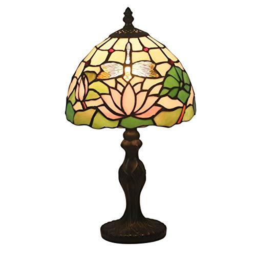 Beautiful lighting city/Tiffany Mode Creative Garden Rétro Gradable Lampe De Table For Étude De Chevet Bar Café Hôtel Tea House 8 Pouces