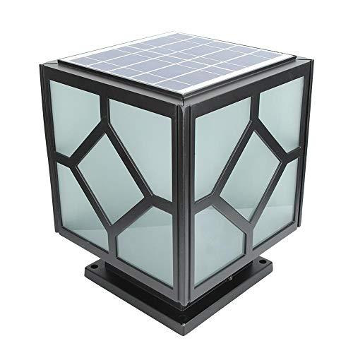 Led kolom koplampen, Outdoor LED zonne-energie pijler licht lamp waterdicht voor villa binnenplaats muur hek muur hoofd muur poort lichten huisdeur kolom lichten(wit)