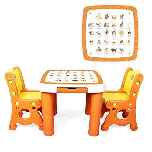 Preisvergleich Produktbild HEMFV Tisch for Kinder 1-5 Jahre Aktivität Tisch Stuhl Set Kleinkind-Spieltisch Stuhl Schütteln Nicht mehr haltbar Einstellbare Stuhl for Kinder verschiedener Altersstufen (Color : Yellow)