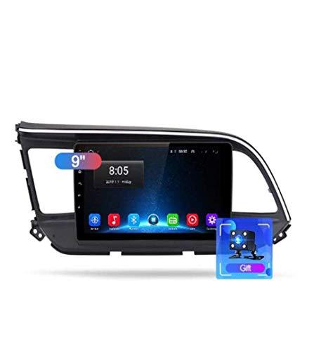 Android 8.1 GPS Navigation Autoradio, 9' Touch Screen Bildschirm Stereo TV, für Hyundai Elantra 2015-2019, mit Lenkradkontrolle Bluetooth Hands-Free Calls Mirror Link DAB USB SWC,4G+WIFI1G+16G