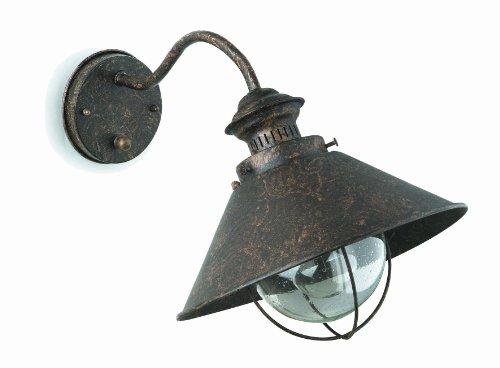 FARO - NÁUTICA Lampada da parete marroneee ossido 260diam