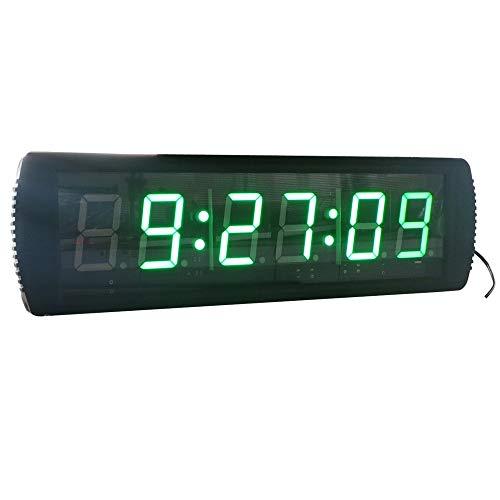 Temporizador con Pantalla LED LED temporizador digital intervalo Count Formación temporizador de cuenta atrás Cronómetro Gimnasio reloj de pared con mando a distancia de cuenta atrás del martillo Mult