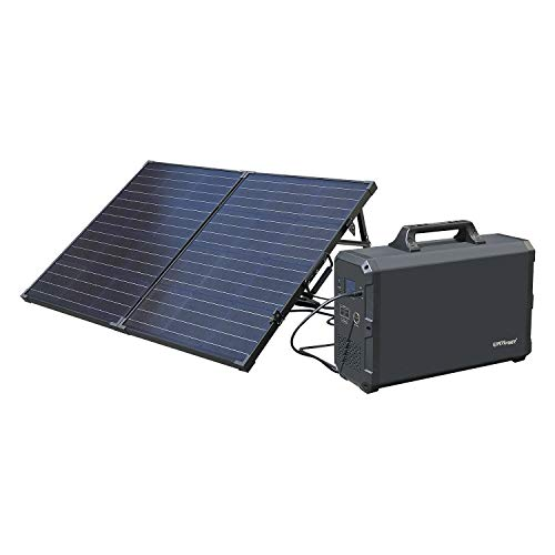 ExpertPower Alpha2400 Rechargeable Solar Powered Station Combo| 2400Wh Portable Generator and ONE FREE 100Watt Glass Monocrystalline Solar Panel
