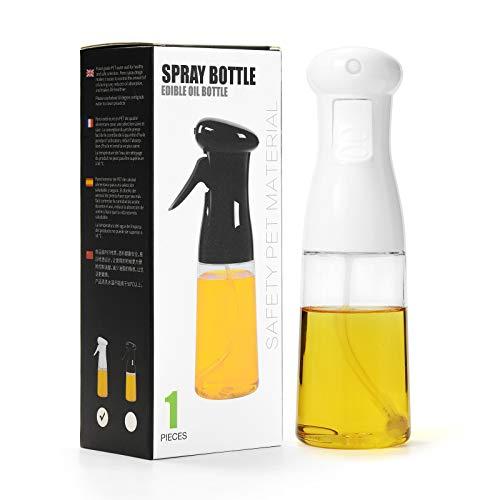 ZITFRI Öl Sprühflasche Ölsprüher Olivenöl Sprayer, Essig Spritzer Ölspender Kontaktspray Wasserspray 200ml Ölspray, Ölspender Öl Sprüher Auslöser Trennspray für Kochen, BBQ, Grillen, Pasta, Salate