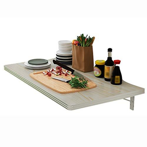 LHSG Klappbare Werkbank an der Wand, klappbarer Esstisch, Wandtisch mit Halterungen, einfach zu installierender klappbarer Holztisch, platzsparend