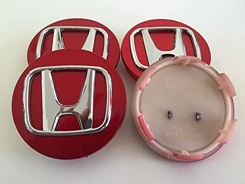 YANXS 4PCS Tapas Centrales para Llantas, Coche Wheel Centrales De Rueda Tapa del Cubo Decorativa Pegatinas Accesorios para H-o-n-D-a A-c-c-o-r-d C-I-V-I-C, 70mm