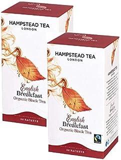Hampstead Tea London Bio-Schwarztee Englisches Frühstück - 2 x 20 Teebeutel 80 Gramm
