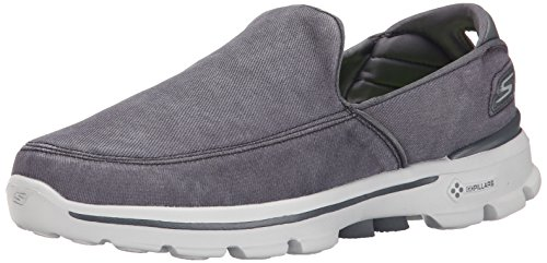 Skechers Performance Men's Go Walk 3 Unwind Slip-On Walking Shoe, Black, 10.5 M US