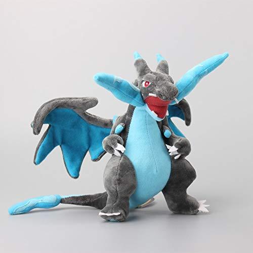 WWWL Soft Toys Anime Mega Evolution Charizard Soft Dolls Juguetes de peluche de 23 cm
