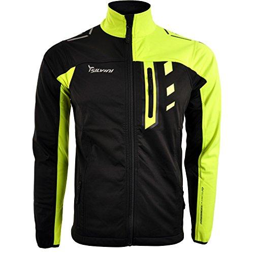SILVINI Hombre Casino Jackets, otoño/Invierno, Hombre, Color Neon-Black, tamaño Large