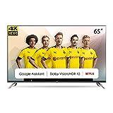 CHiQ Televisor Smart TV LED 65 Pulgadas, Android 9.0, Smart TV, UHD, 4K, WiFi, Bluetooth, Google Play Store, Google Assistant, Netflix, Prime Video, HDMI, USB - U65H7A